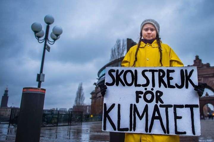 Одиночний пікет Грети у Стокгольмі, Швеція, 30 листопада 2018 року — Грета Тунберг отримала «альтернативну Нобелівську премію»