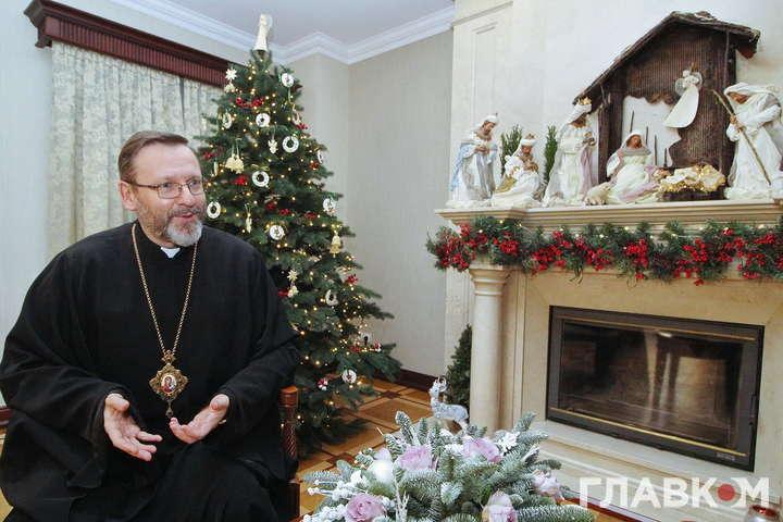 <span>Блаженніший Святослав</span> — Темну ніч тривоги людства народження Спасителя перетворює на надію