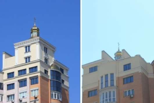 Надбудова на будинку на проспекті Героїв Сталінграда, 4 - Київська мерія обіцяє перевірити законність церкви на даху будинку на Оболоні (фото)