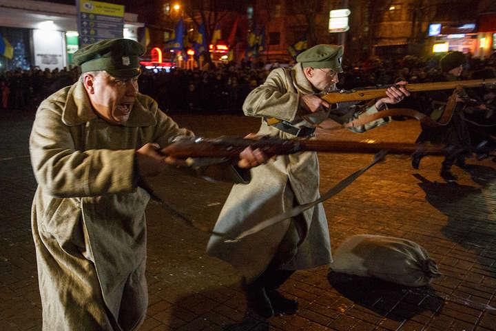 Реконструкція бою між військами УНР і більшовиками - У суботу в Києві відбудеться реконструкція бою за «Арсенал»