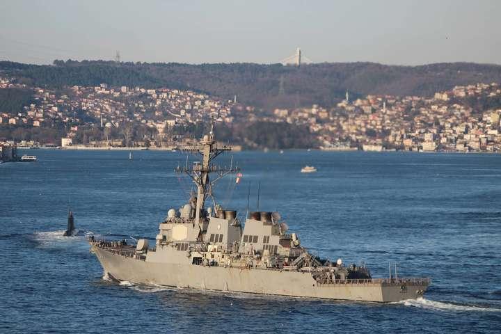 Міноборони РФ відреагувало на появу есмінця USS Ross в акваторії Чорного моря