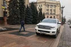 Фото: — Позашляховик, який помітили біля Харківської ОДА, належить кримінальному авторитету на прізвисько Борода Володимиру Чепілю