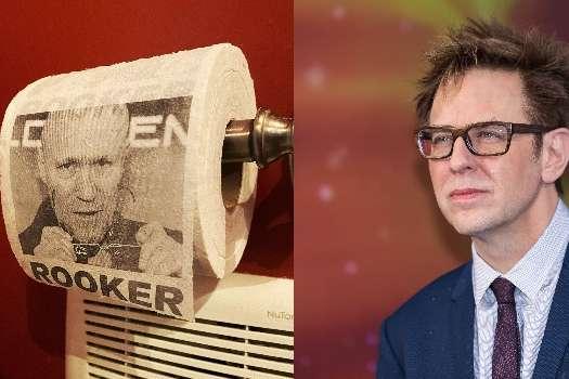<p>У американского режиссера Джеймса Ганна закончились запасы туалетной бумаги</p> <div></div> <p> — Режиссер «Стражей Галактики» пользуется туалетной бумагой с лицом друга»></p></div> <div class=