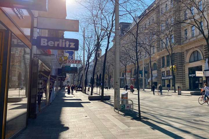На вулицях Відня значно побільшало перехожих - В Австрії послабили карантин
