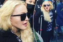 Фото: — Мадонна відновлюється після травм, отриманих під час її недавнього туру. Проте, це не завадило їй вийти на мітинг