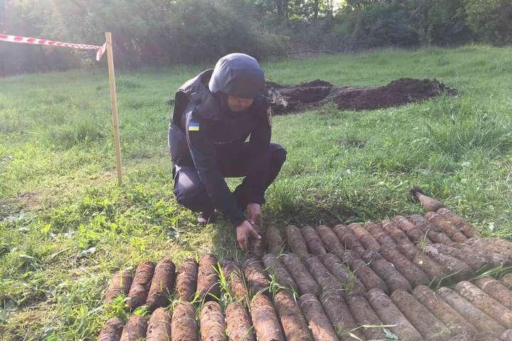 Артилерійські снаряди виявилив селі Спичинці - У сільському парку на Вінниччині сапери виявили понад 600 артилерійських снарядів