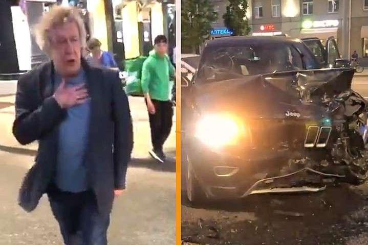 ДТП за участю відомого актора сталась ввечері 8 червня у Москві — ДТП з актором Єфремовим: водій фургона помер у лікарні