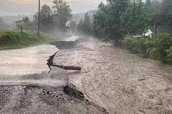 Фото: — <p>У Міжгірському районі за дві години випало 119 мм опадів</p>