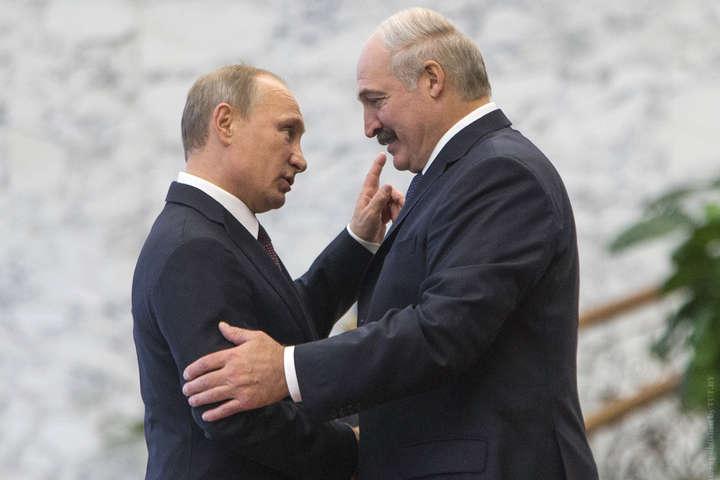 Президенти РФ та Білорусі Володимир Путін та Олександр Лукашенко - Лукашенко назвав Білорусь останнім союзником Росії