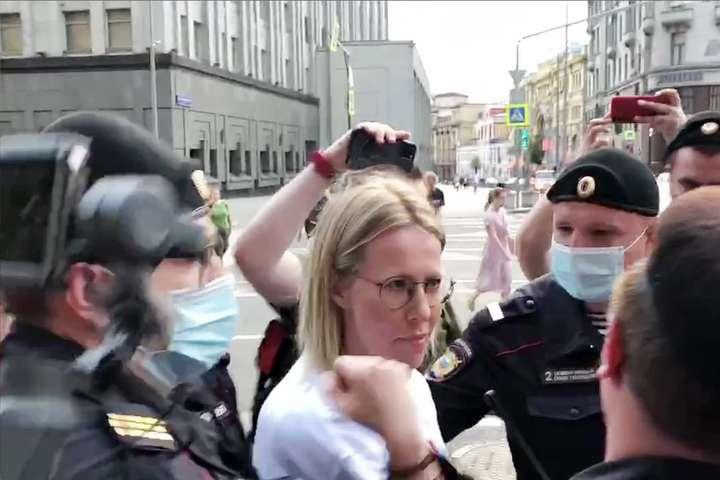 Ксенію Собчак затримали на акції на підтримку «шпигуна» Сафронова - Ксенію Собчак і 20 журналістів затримали на акції на підтримку «шпигуна» Сафронова