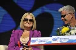 Фото: — Наталя Бучинська та Олег Газманов на<span>Слов'янському базарі у Вітебську 2020</span>