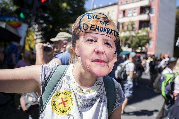 Загальна кількість учасників мітингу сягнула близько 20 тис. осіб - На акції протесту проти коронавірусних обмежень у Берліні постраждали 18 поліцейських