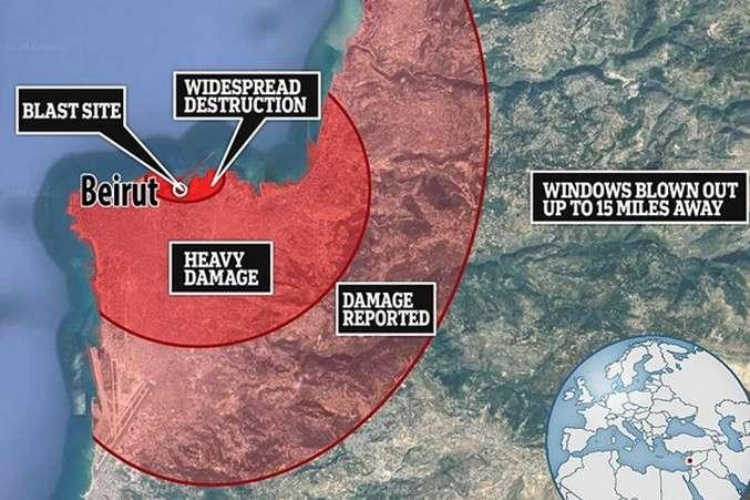 Відлуння вибуху в Лівані були чутні на Кіпрі - Сейсмологи: вибух у Бейруті еквівалентний силі землетрусу магнітудою 4,5