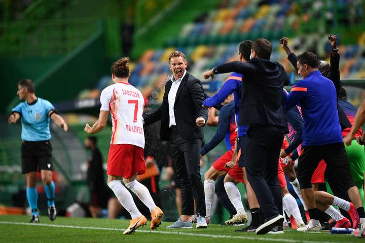Святкування Нагельсмана виходу у півфінал - Нагельсманн став наймолодшим тренером в історії півфіналів Ліги чемпіонів