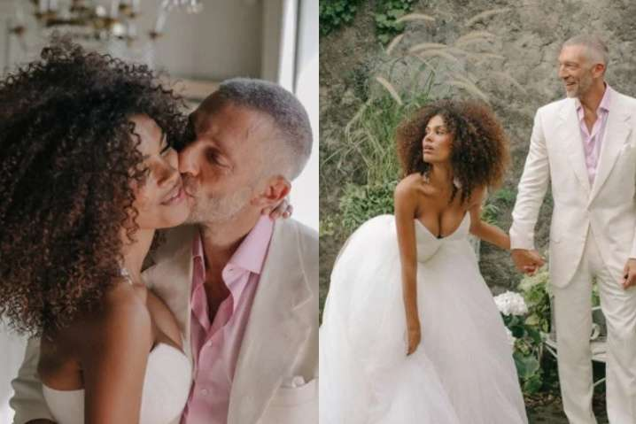 Супермодель Тина Кунаки показала редкие свадебные фото с Венсаном Касселем