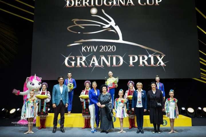 Нагородження учасниць Кубка Дерюгіної - Українська гімнастка Онопрієнко стала володаркою Кубка Дерюгіної