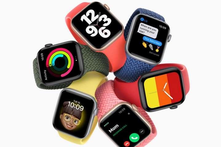 <p>Смарт-годинники Apple Watch SE</p> — Apple представила нові iPad і дві моделі смарт-годинників