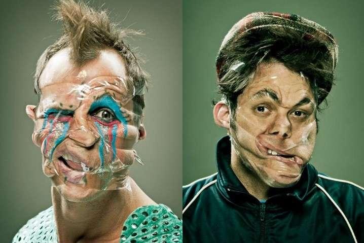 Людям замотали лицо скотчем ради смешного фотопроекта