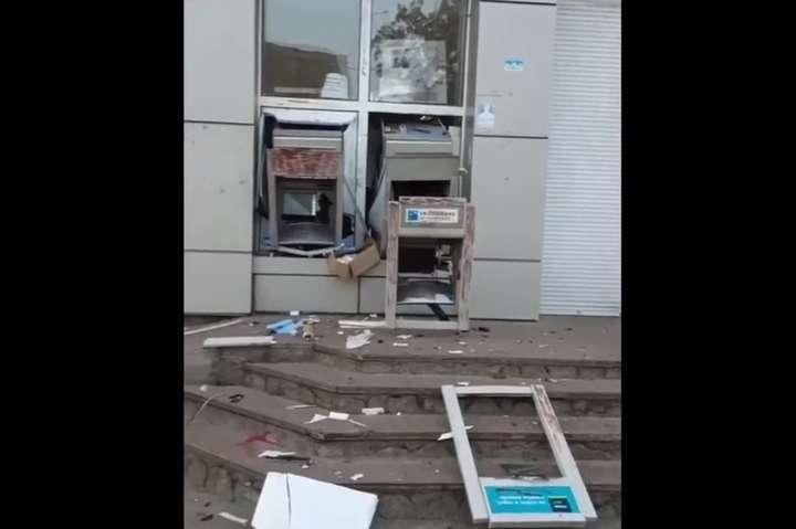 Пограбування банкоматів на Київщині: з'явилося відео моменту підриву