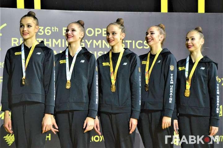 Валерія Юзьв'як, Діана Баєва, Анастасія Возняк, Марія Височанська та Маріола Боднарчук здобули по чотири нагороди домашнього Євро - Чемпіонський виступ українських гімнасток і гімн на їх честь на Євро-2020 (відео)