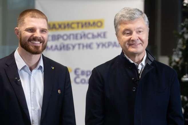Лідер партії «Європейська солідарність» Петро Порошенко привітав Володимира Борисенка з перемогою
