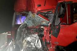 Фото: — Зіткнулися вантажівки MAN і Renault біля міста Кобиляки