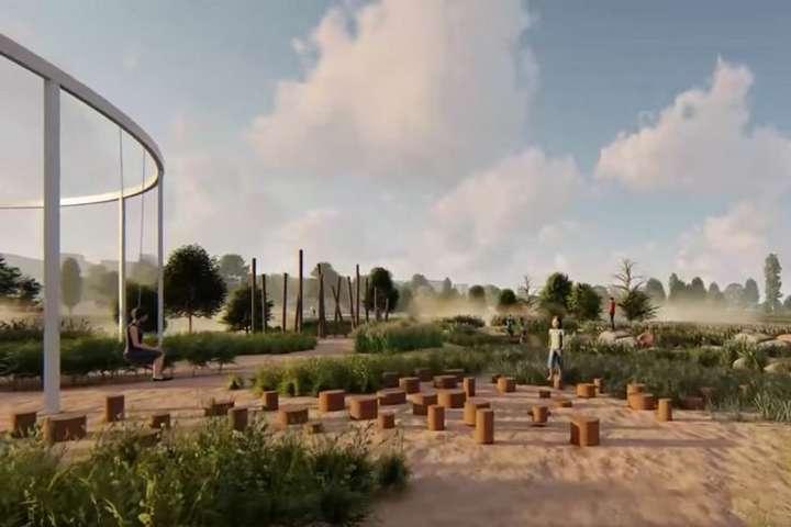 На думку активістів, парк на Осокорках – це не забаганка, а життєва необхідність - «Екопарк Осокорки»: активісти створили візуалізацію майбутньої заповідної зони
