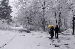 Фото: — Снігопад у Трускавці