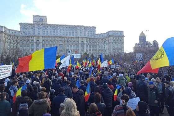 У столиці Румунії сотні людей протестували проти обов'язкової вакцинації