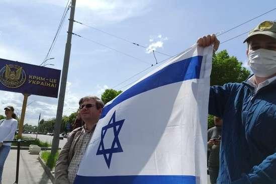 Акція відбулася без конфліктів br / - «Росія – це ХАМАС»: акція на підтримку Ізраїлю відбулася під посольством Росії (фото, відео)