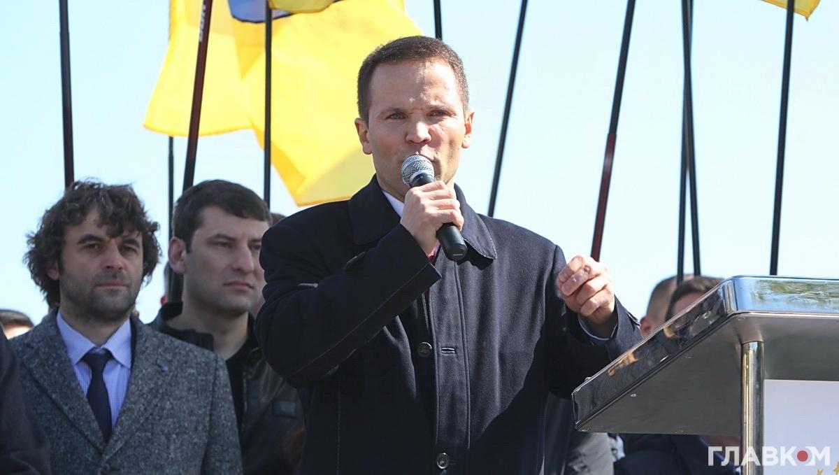 Юрій Дерев'янко під час об'єднання політичних сил (фото: Станіслав Груздєв)