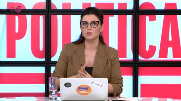 Наталія Морарь, колишня телеведуча ток-шоу «Політика» на телеканалі TV8