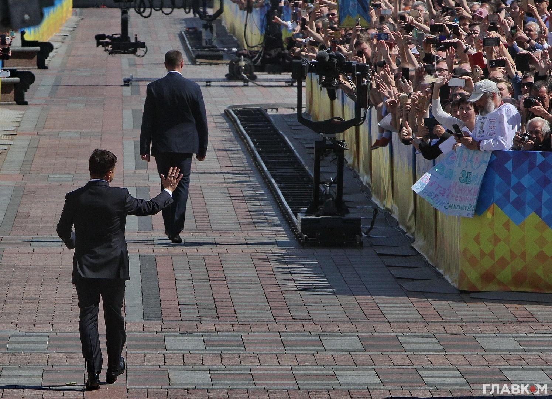 Володимир Зеленський прямує до Маріїнського палацу