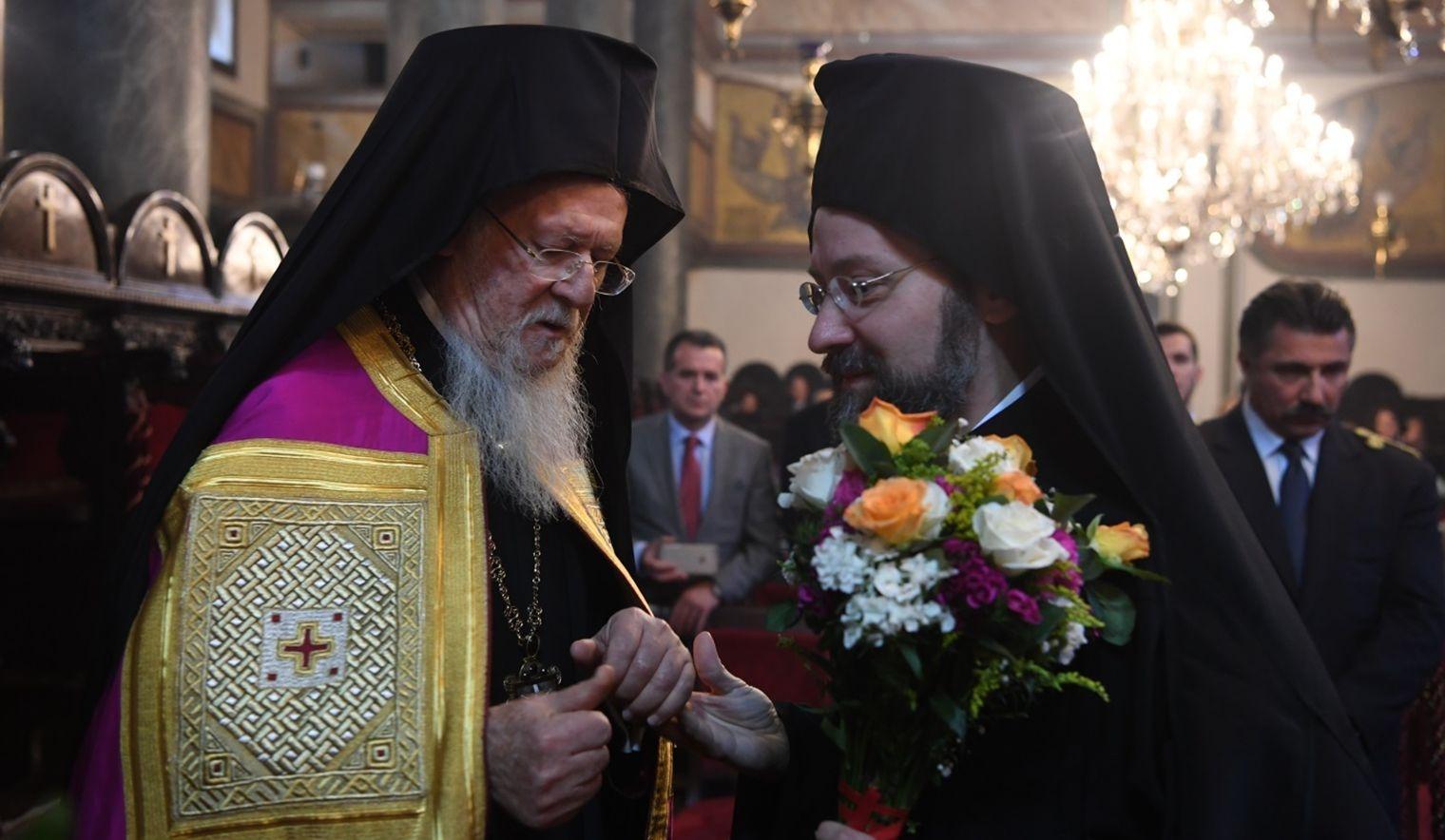 Вселенський патріарх Варфоломій та архієпископ Тельмісський Іов