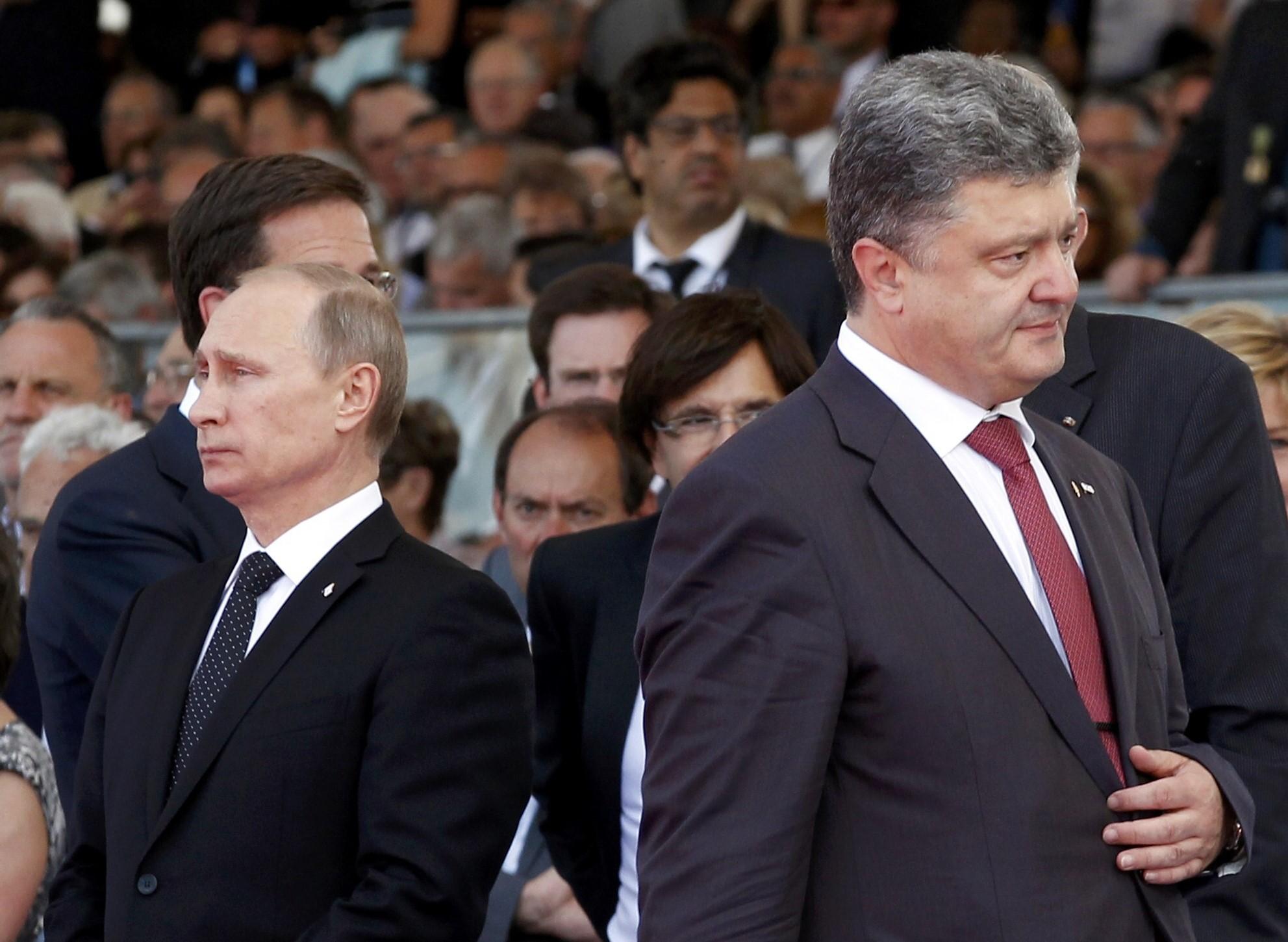 Путін та Петро Порошенко
