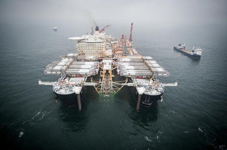 Михайло Гончар: Дійсно, роботи з продовження «Північного потоку – 2» ведуться. Але проблема в тім, що просте завершення будівництва якоїсь конструкції не тотожне її введенню в експлуатацію (Фото: Nord Stream 2)