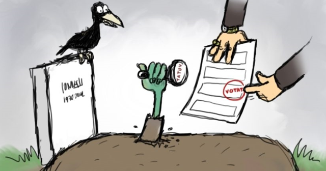 Автор карикатури Ален Хаман. Джерело frontslobode.ba
