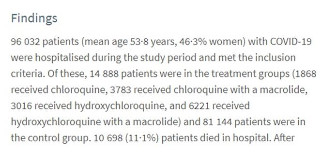 Дослідники проаналізували історії хвороби 96032 шпиталізованих з Covid-19 пацієнтів