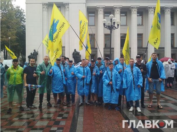 Підпис до фото: У Київ приїхала делегація «бляхарів» з Кам'янець-Подільського