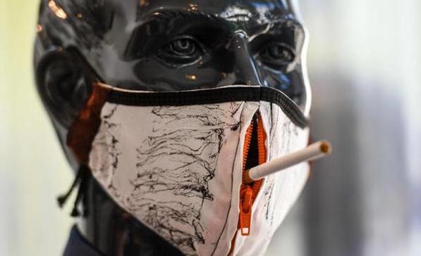 Захисна маска для курців від німецьких дизайнерів (фото: dw.com)