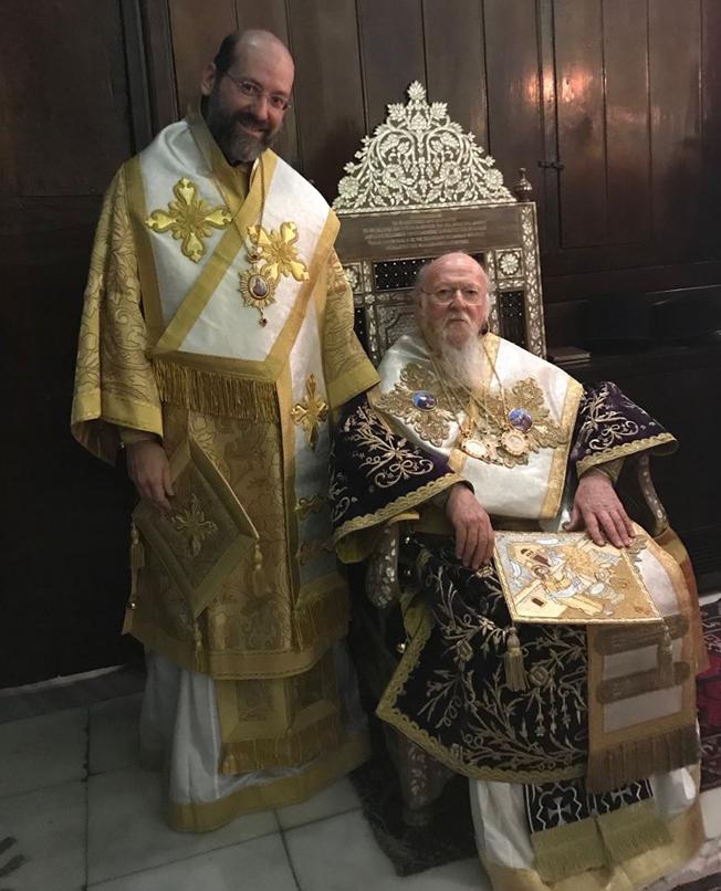 Архієпископ Тельмісський Іов та Вселенський патріарх Варфоломій