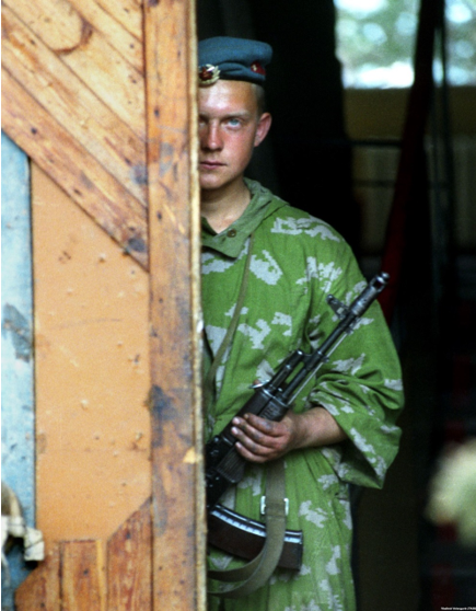 Російський десантник в Абхазії. Фото з сайту ekhokavkaza.com (проект Радіо Свобода).