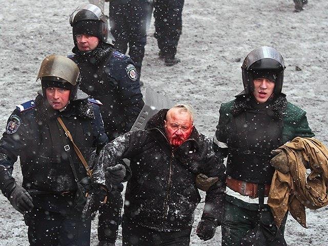Затримання Миколи Пасічника у 2014 році, на День Соборності на вул. Грушевського у Києві