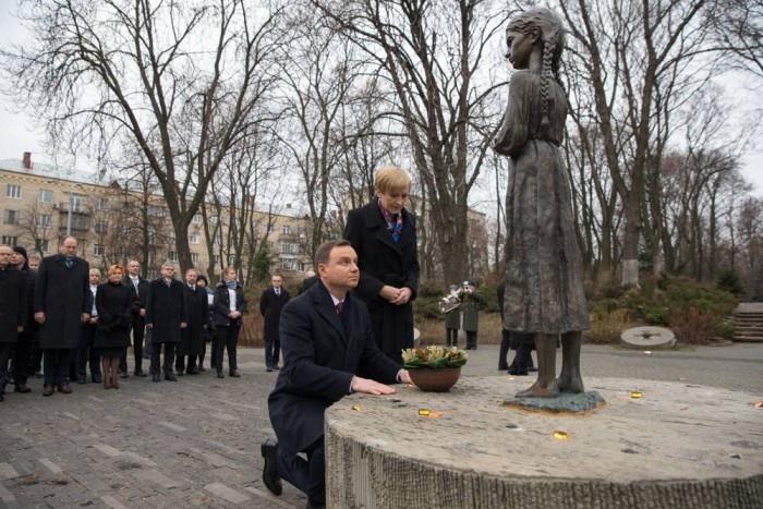 Президент Польщі Анджей Дуда вшанував пам'ять жертв Голодомору