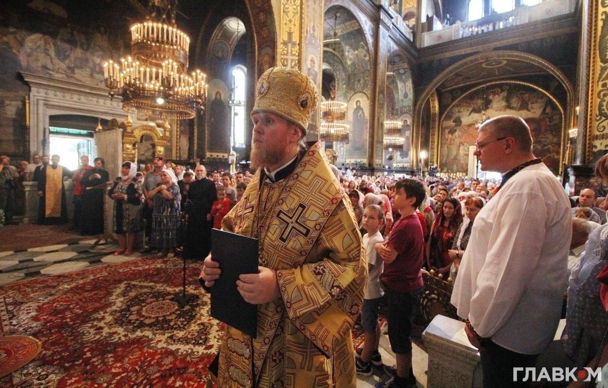Архієпископ УПЦ КП Євстратій (Зоря) у Володимирському соборі