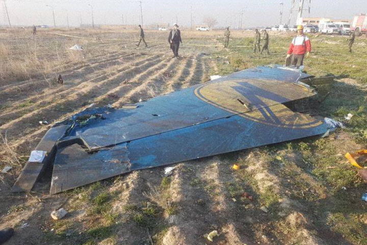 Частина пасажирського літака авіакомпанії МАУ збитого у повітряному просторі Ірану, січень 2020 року