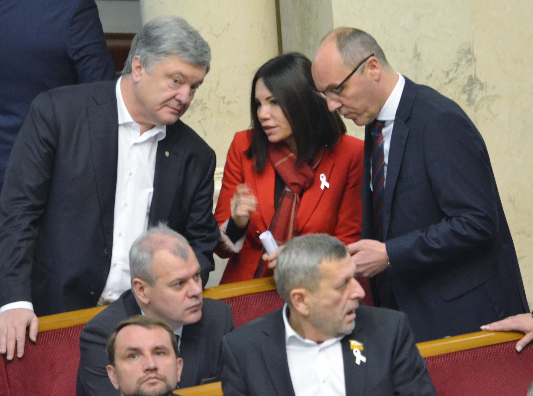 Петро Порошенко, Вікторія Сюмар та Андрій Парубій (фото: Олег Федонюк, facebook)