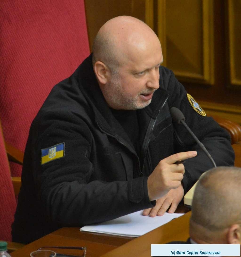 Секретар РНБО Олександр Турчинов представляв законопроекти щодо Донбасу