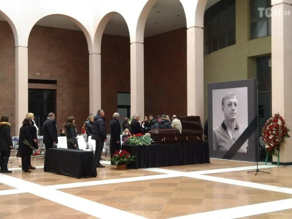 Прощання з бізнесменом Сергієм Старицьким, 25 лютого 2020 року (фото з відкритих джерел)