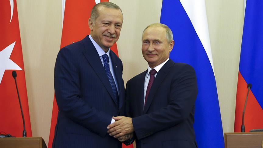 Президент Туреччини Реджеп Тайїп Ердоган та президент РФ Володимир Путін